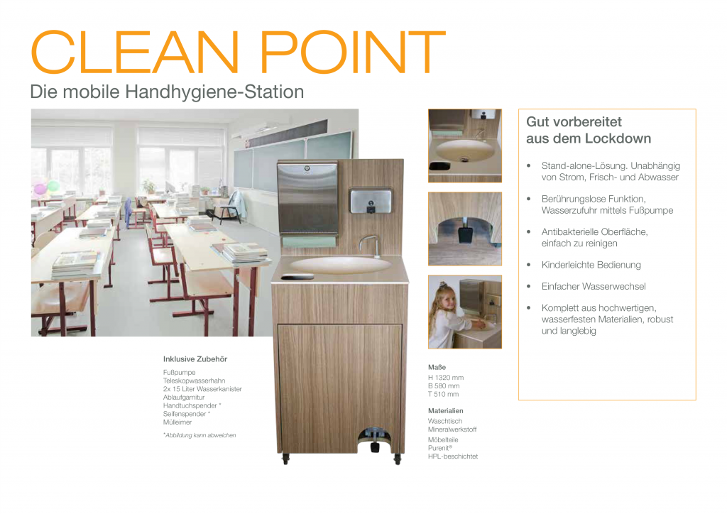 Cleanpoint classic - die Handhygiene-Station