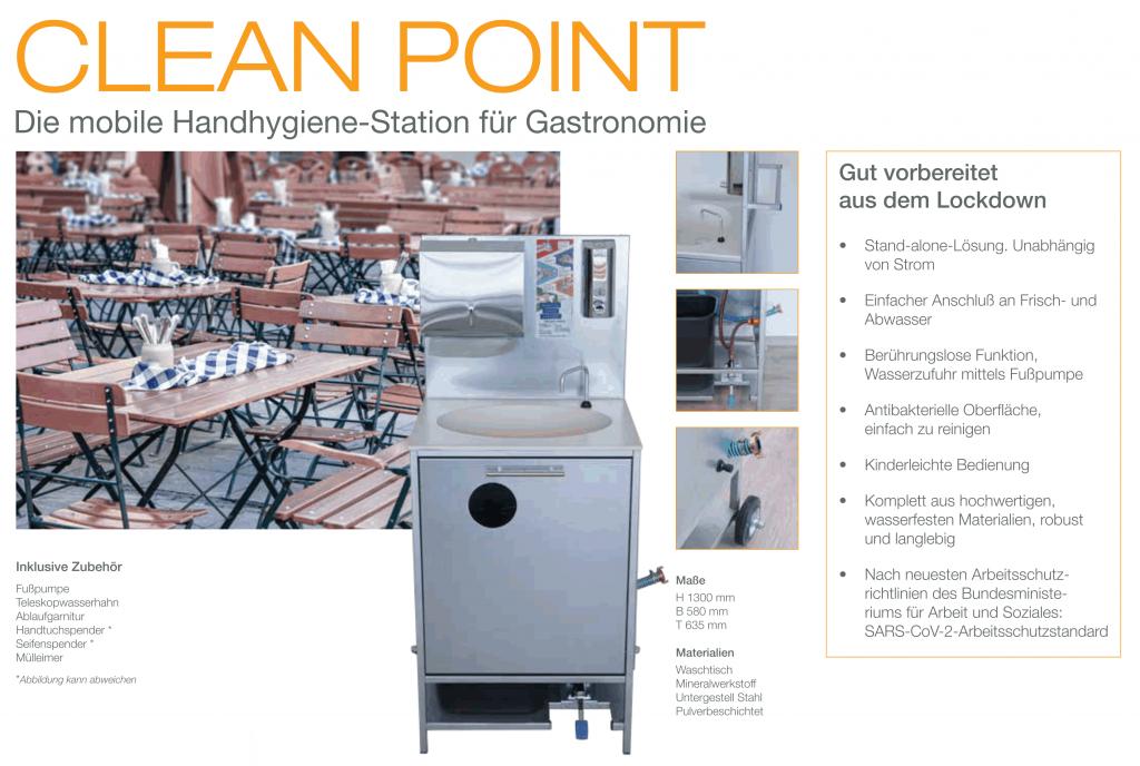 Cleanpoint gastro - die Handhygiene - Station